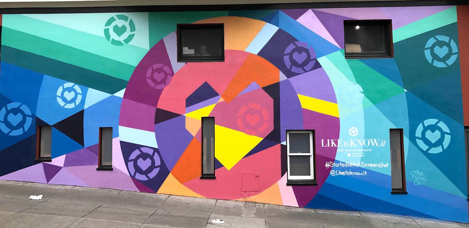 Commissioned Exterior Mural for LiketoKnow.it | San Francisco USA, 2017
