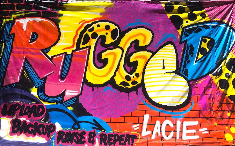 Live Graffiti Mural for Seagate Technology | Anaheim USA, 2017