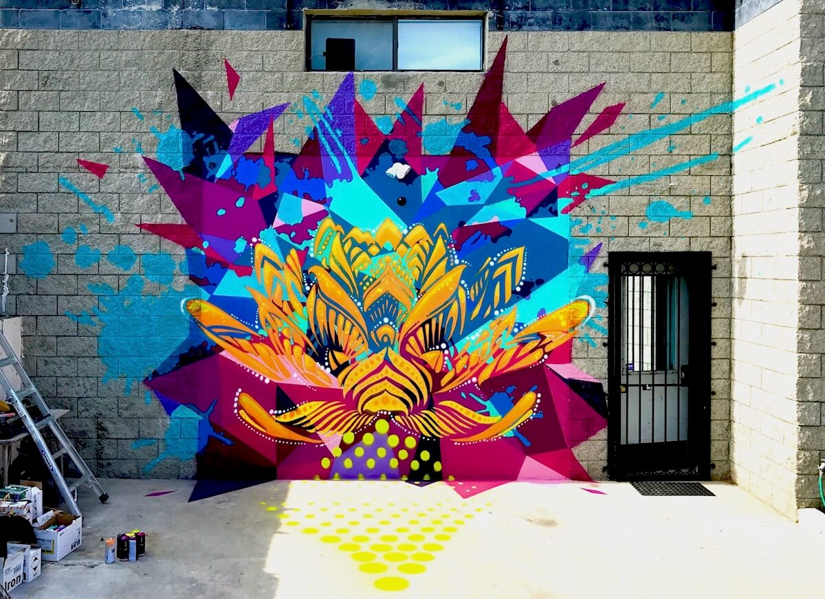 Commissioned Exterior Mural for Private Residence | Pasadena USA, 2017