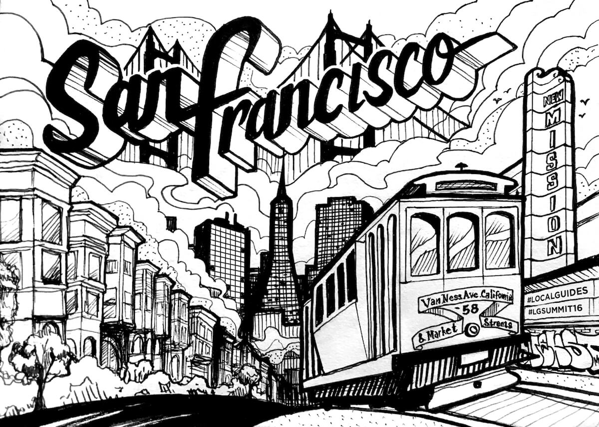 Commissioned Illustration for Corporate Event | San Francisco USA, 2017