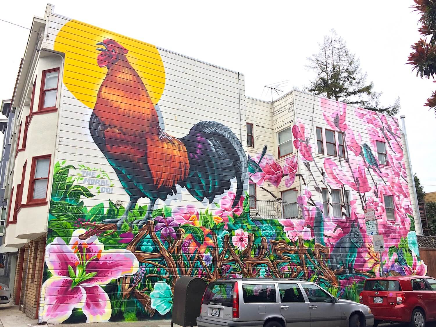 Commissioned Exterior Mural 3 for Gordon Property Management | San Francisco USA, 2017