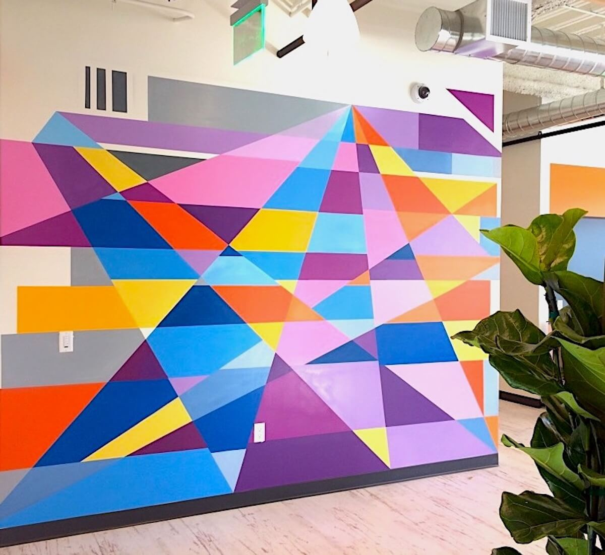 Commissioned Office Mural for ServiceNow | San Francisco USA, 2017
