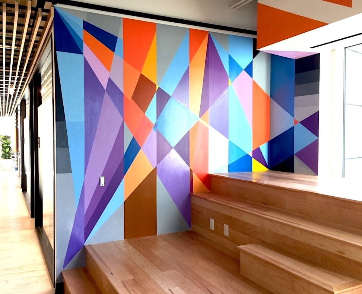 Commissioned Office Mural 2 for ServiceNow | San Francisco USA, 2017