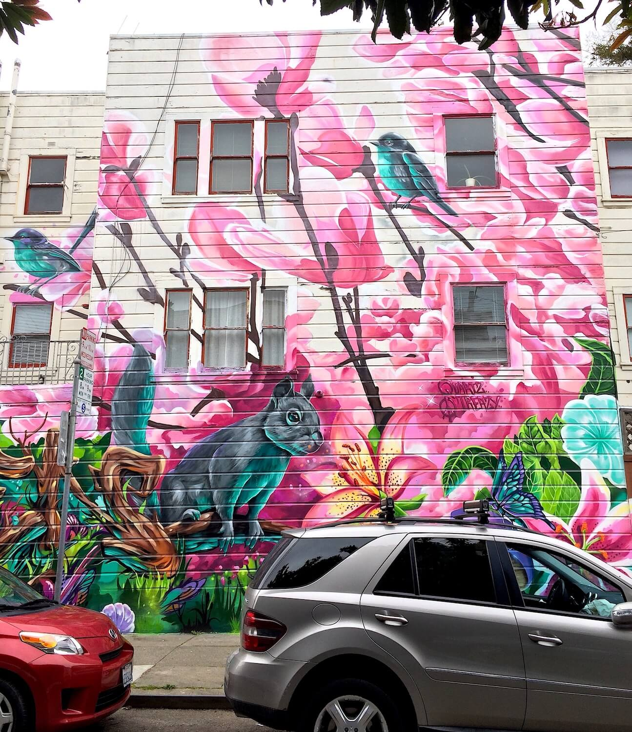 Commissioned Exterior Mural 2 for Gordon Property Management | San Francisco USA, 2017
