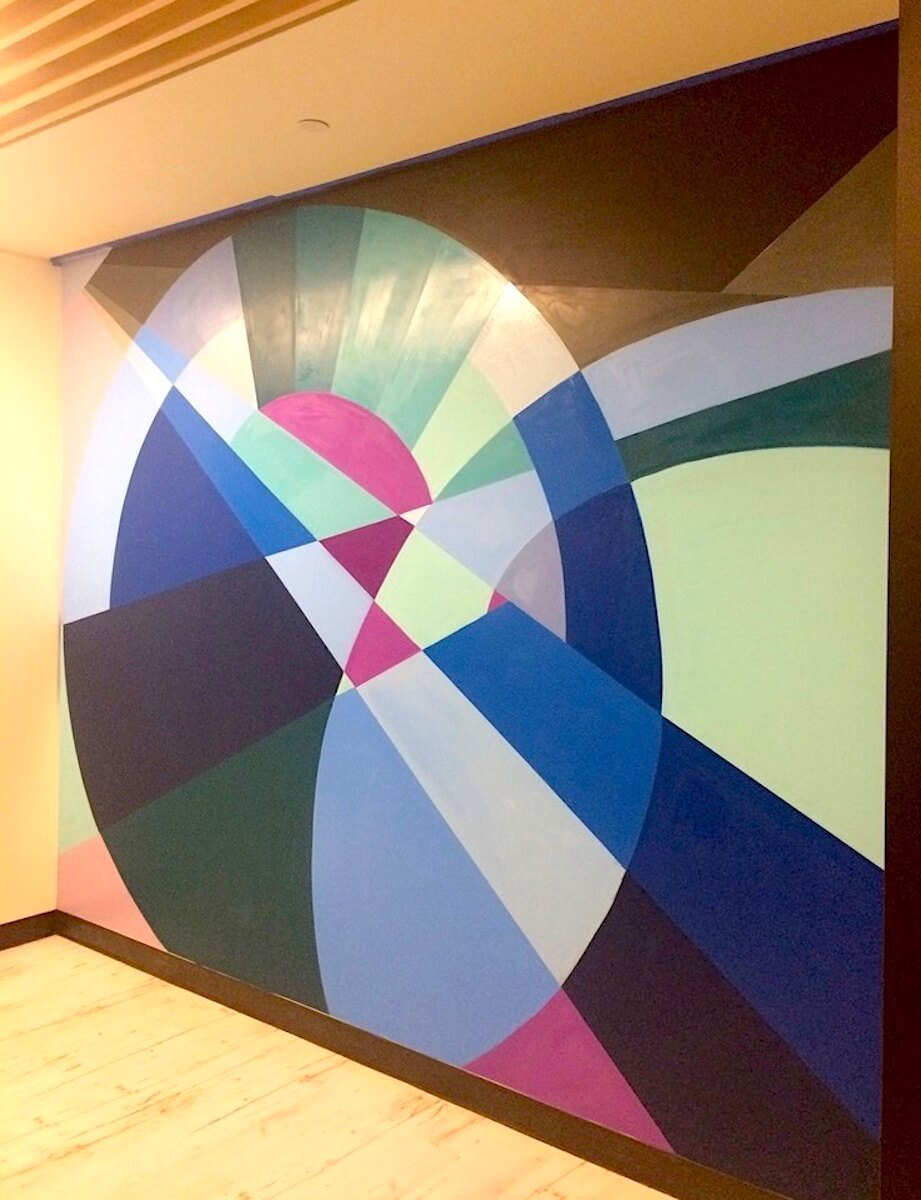 Commissioned Office Mural 3 for ServiceNow | San Francisco USA, 2017