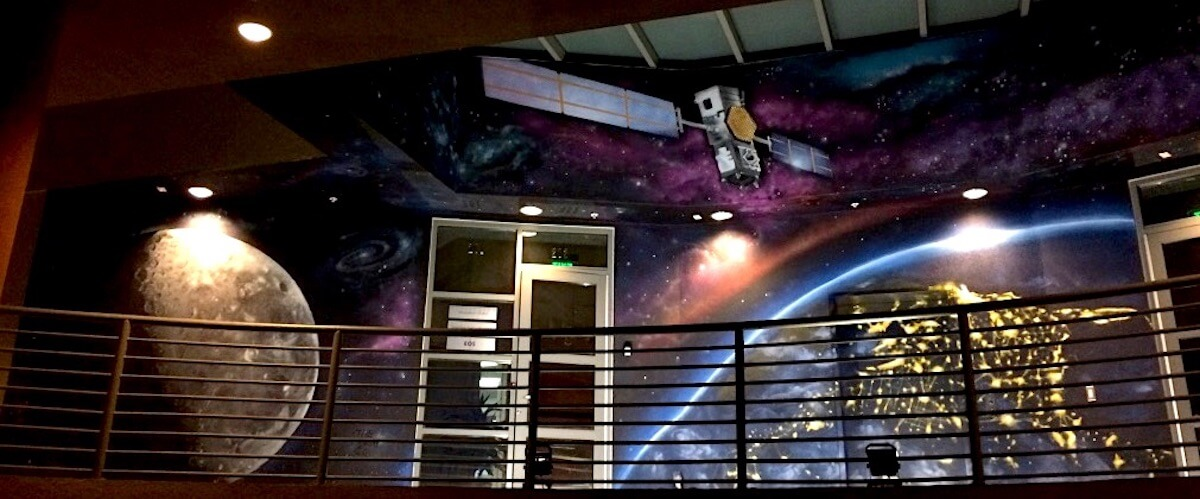 Commissioned Office Mural 3 for EOS Data Analytics | Menlo Park USA, 2017