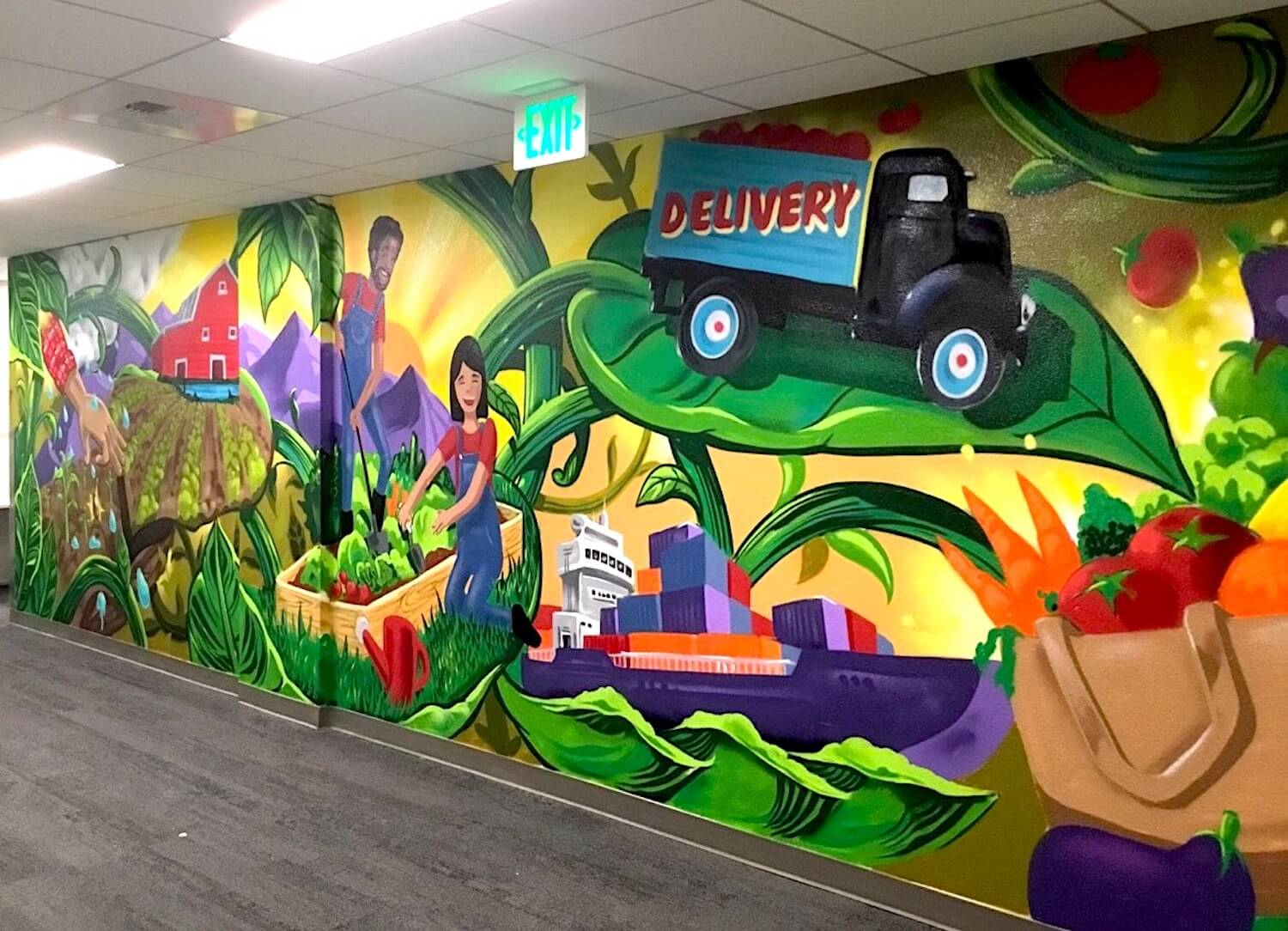 Commissioned Interior Mural 2 for UC Berkeley | Berkeley USA, 2017