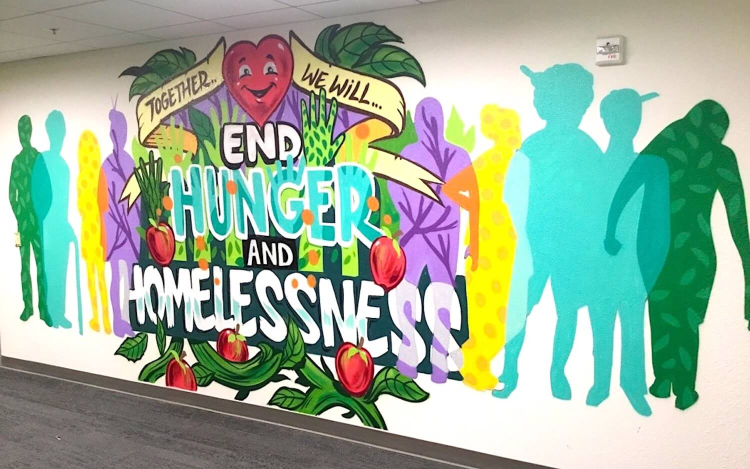 Commissioned Interior Mural 3 for UC Berkeley | Berkeley USA, 2017