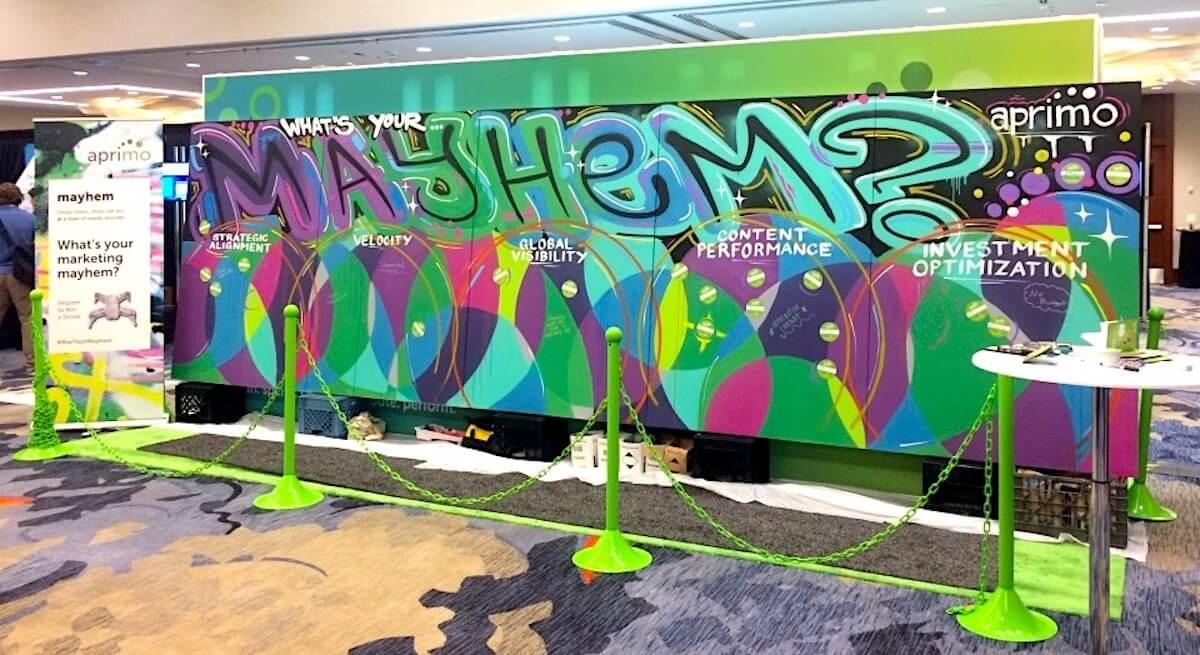 Live Graffiti Mural for Aprimo | San Francisco USA, 2017
