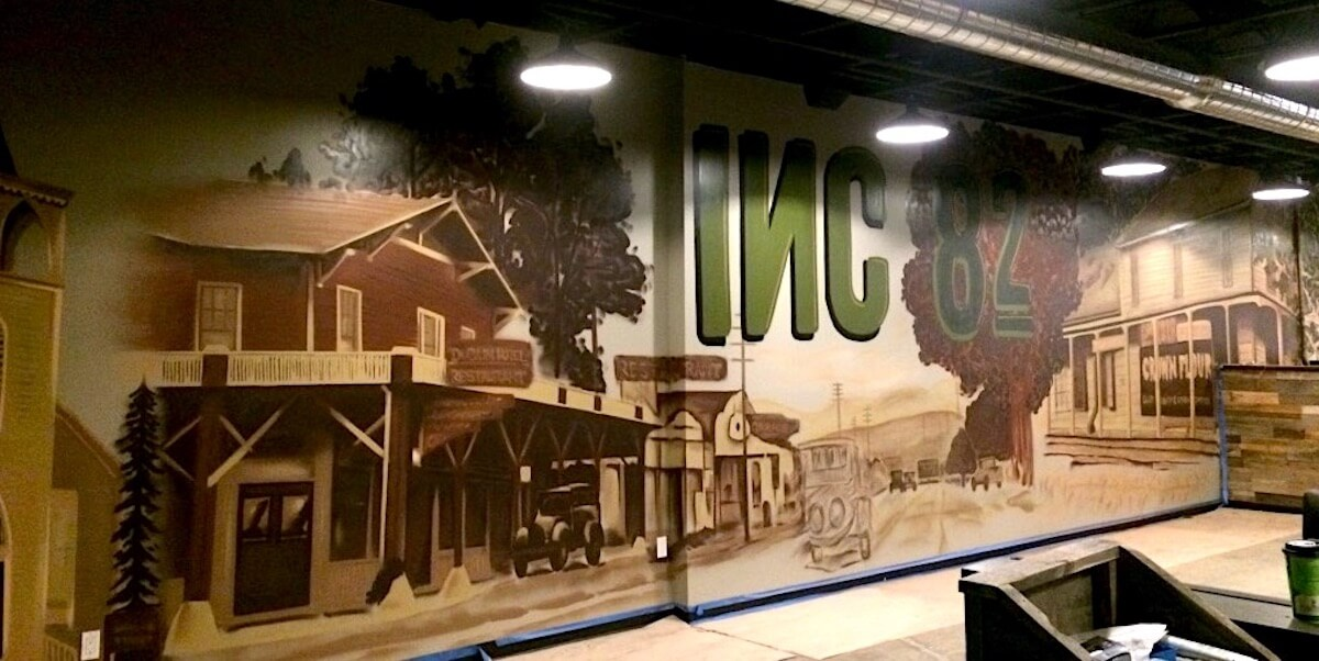 Commissioned Interior Mural for Inc 82 Brewing | Dublin USA, 2017