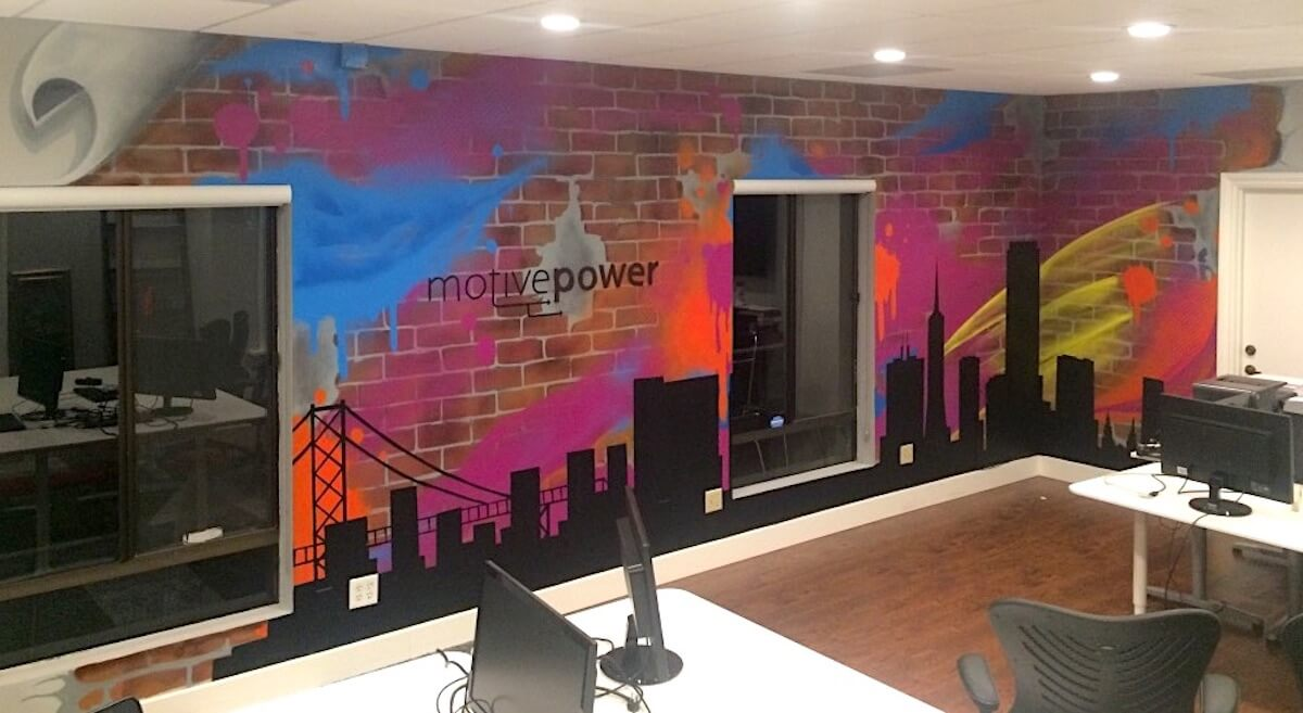Commissioned Office Mural for Motive Power |  Danville USA, 2017