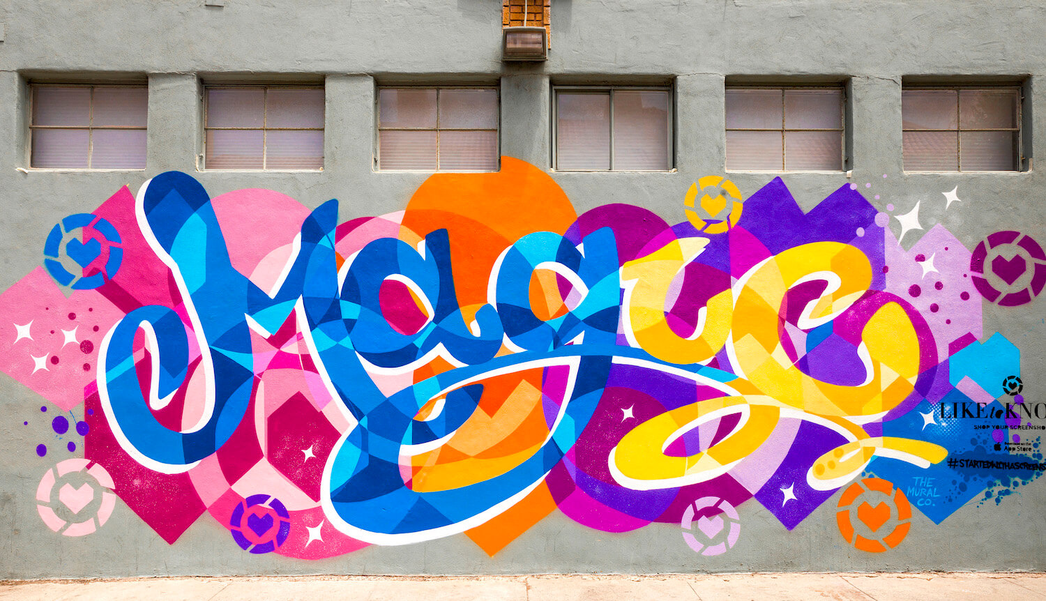 Commissioned Exterior Mural for LiketoKnow.it | Los Angeles USA, 2017
