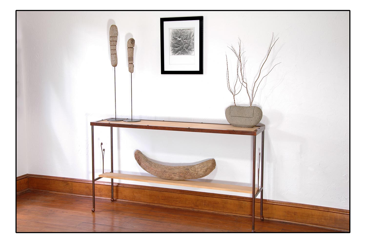 Iron Frond Console Table