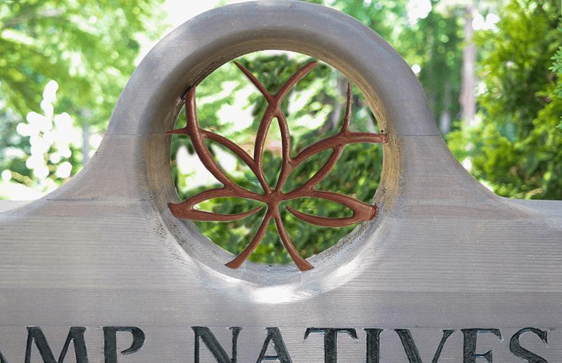 Sign for UNCC Botanical Gardens