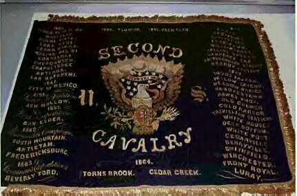 1865 Presentation Flag, 2nd U.S. Cavalry. Photographed at the US Army Center for Military History