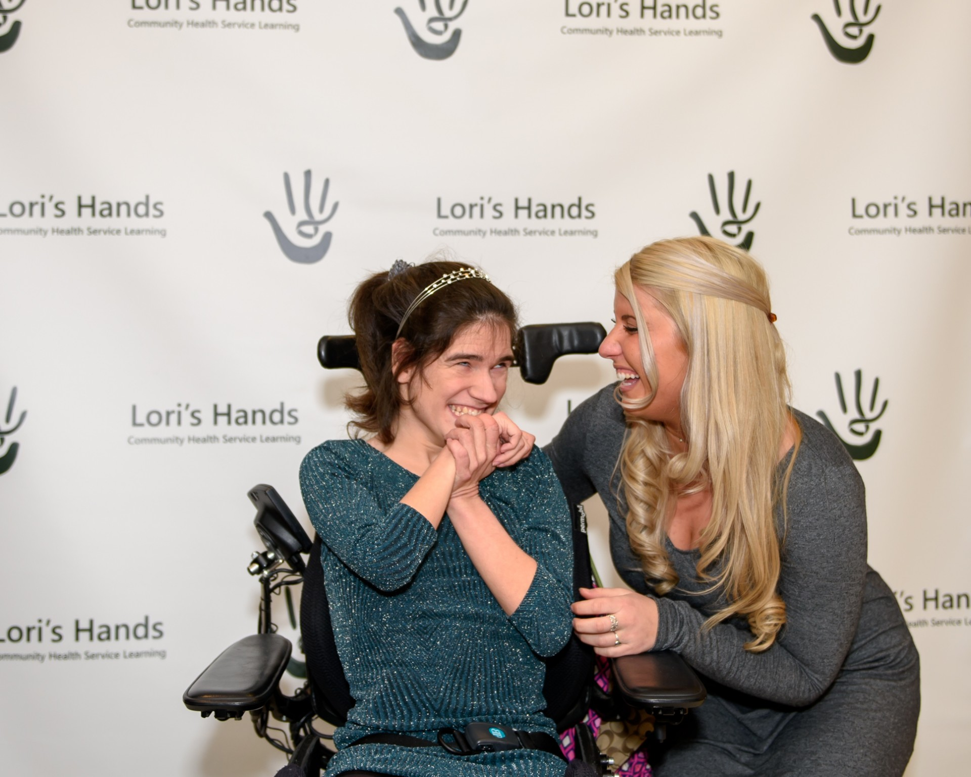 Kyla and one of her clients, Brigitte, at the Green Ribbon Gala.