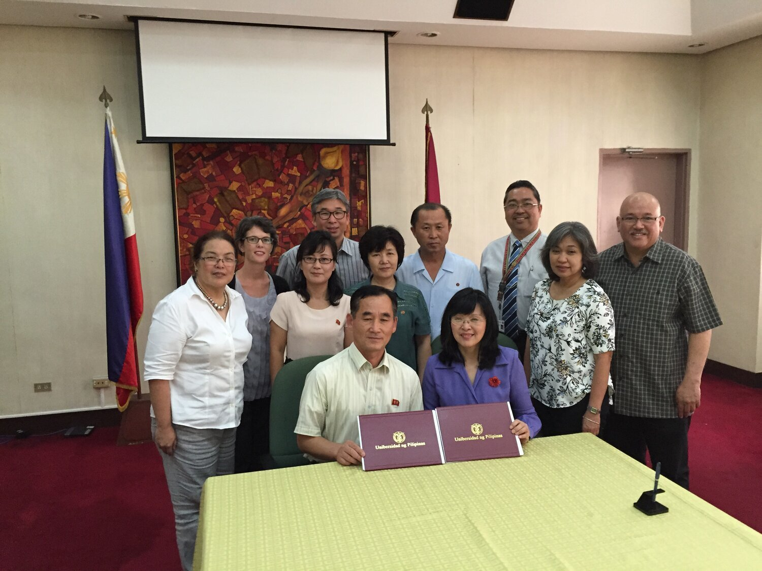 Singing MOU between Philippine National Medical School & Pyongyang Medical University.