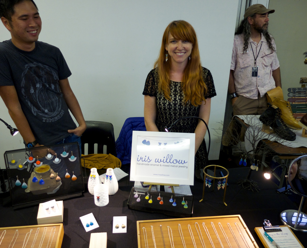 I had a super fun time at the Storefront Showcase at Fort Mason last night. Thanks  Daniel Bogan  for capturing this photo of my table. Big thanks to all my friends that stopped by to say hi.