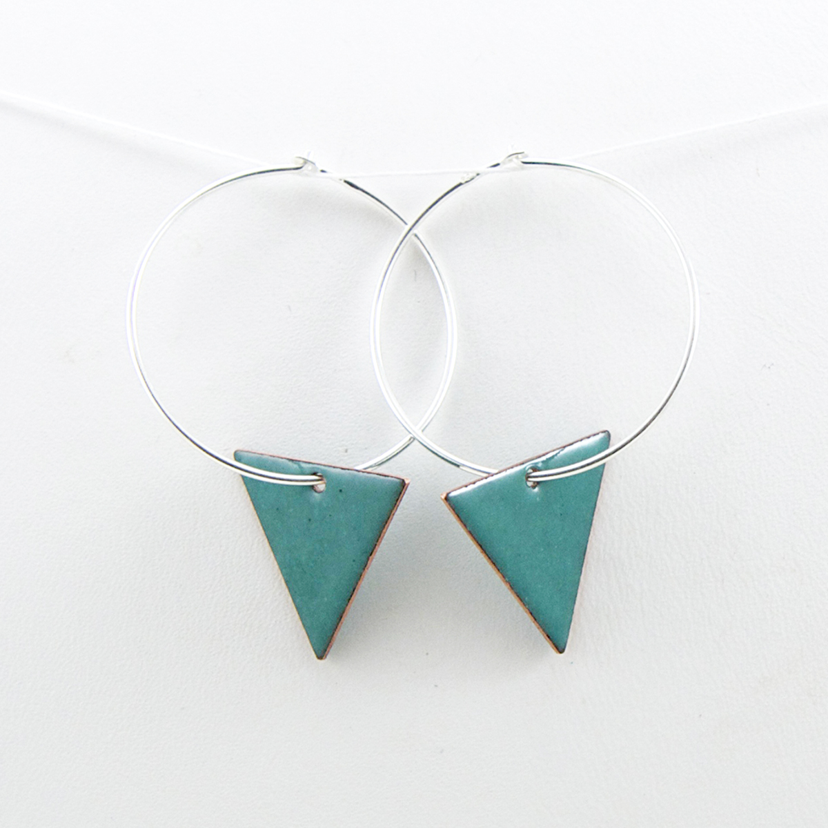 triangle hoops teal earrings Iris Willow.jpg