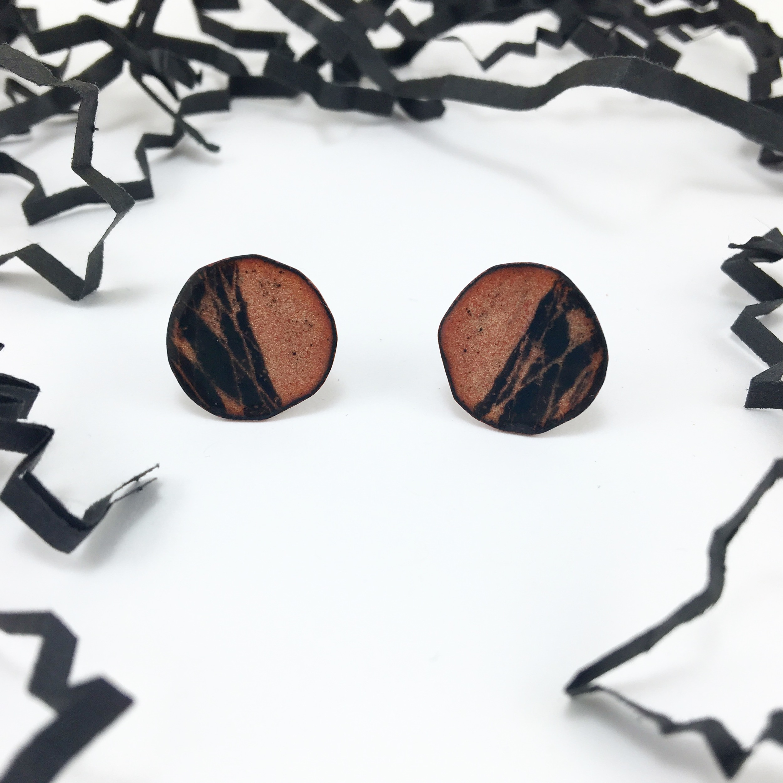 CrissCross Circle Studs ($65)