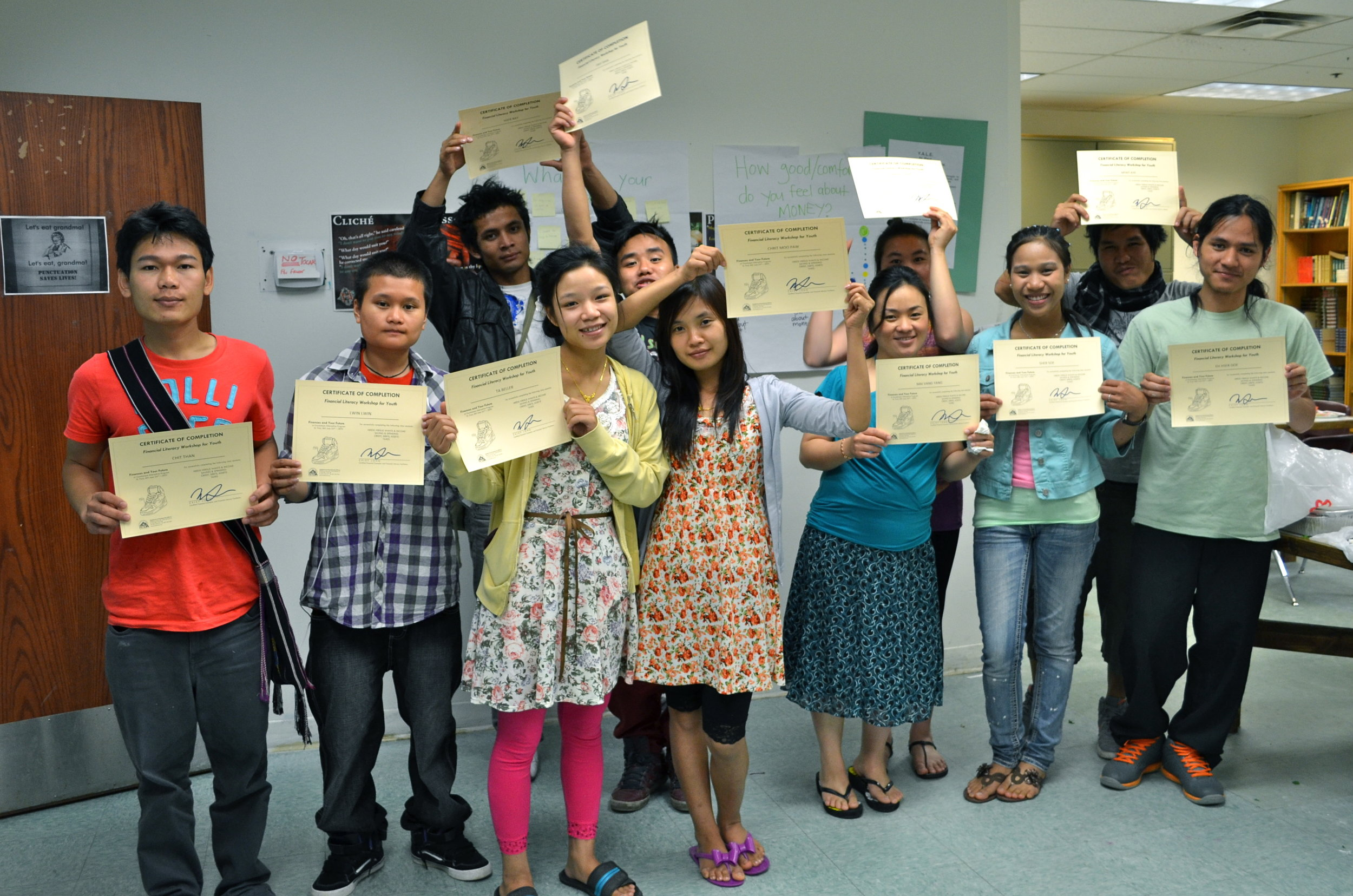 Graduates from NeDA's Financial Literacy Workshop at GAP.JPG