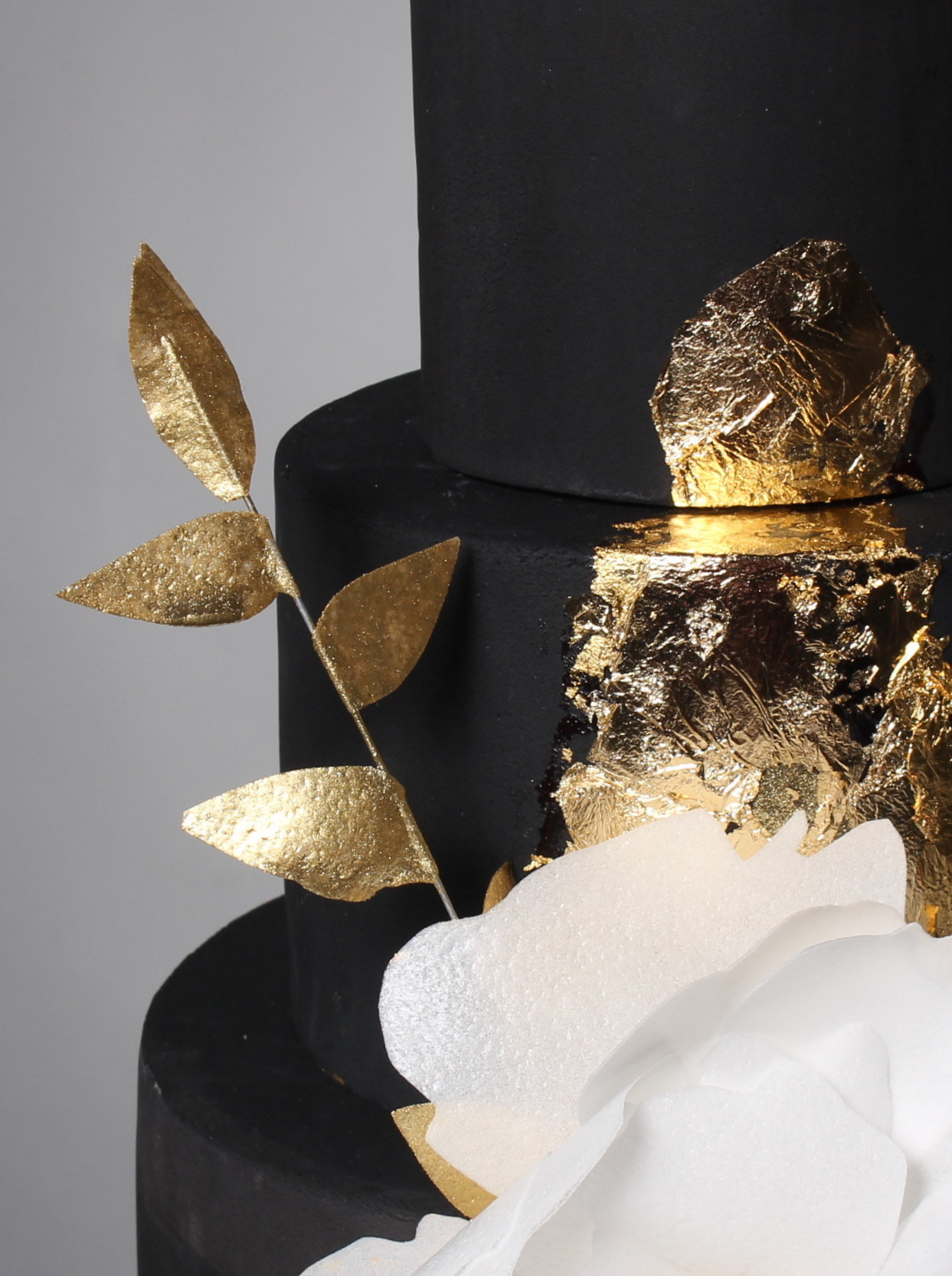 Black and Gold wedding cake 2 | The Sweet Stuff Nottingham