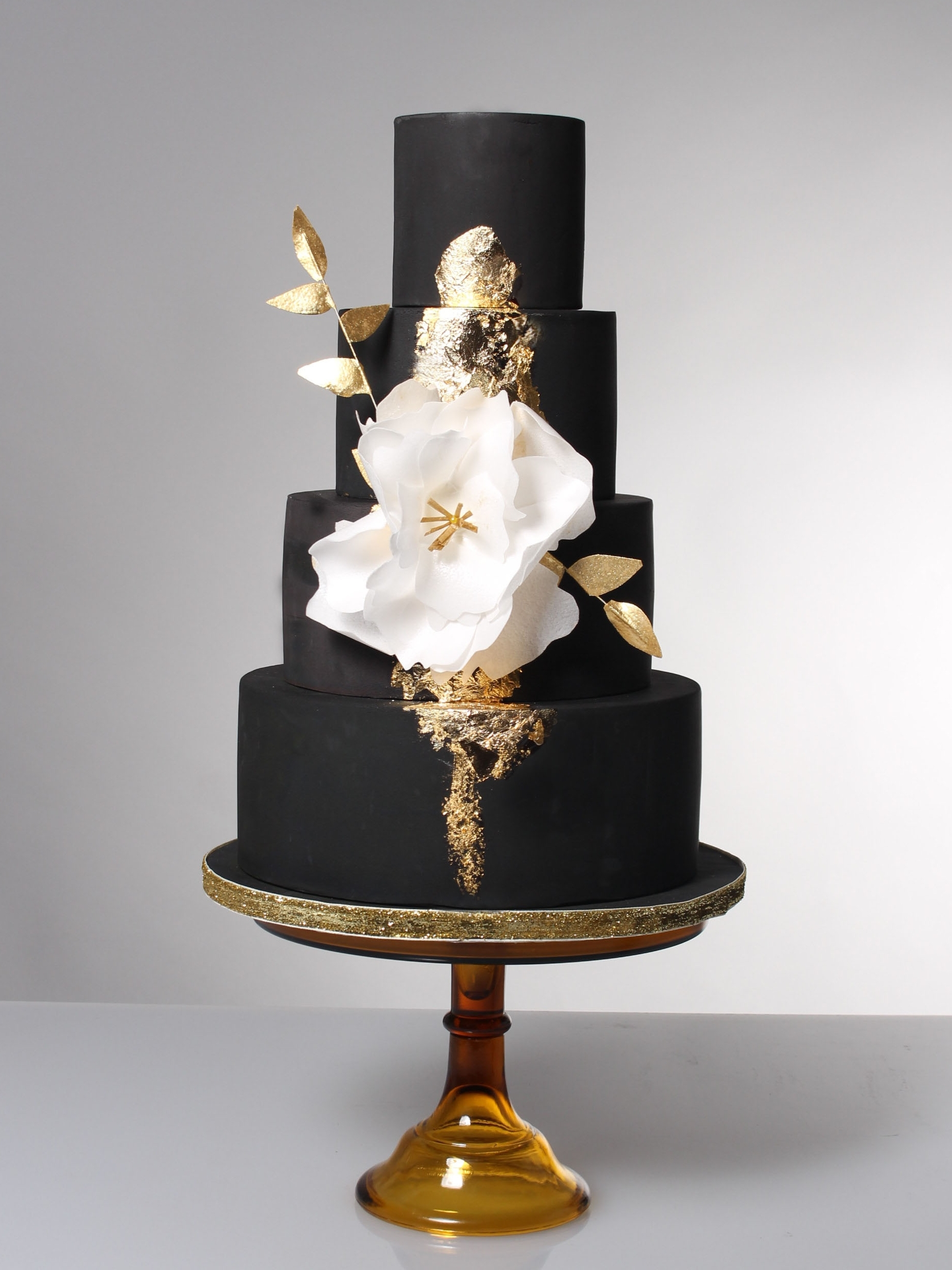 Black and Gold Wedding Cake | The Sweet Stuff Nottingham