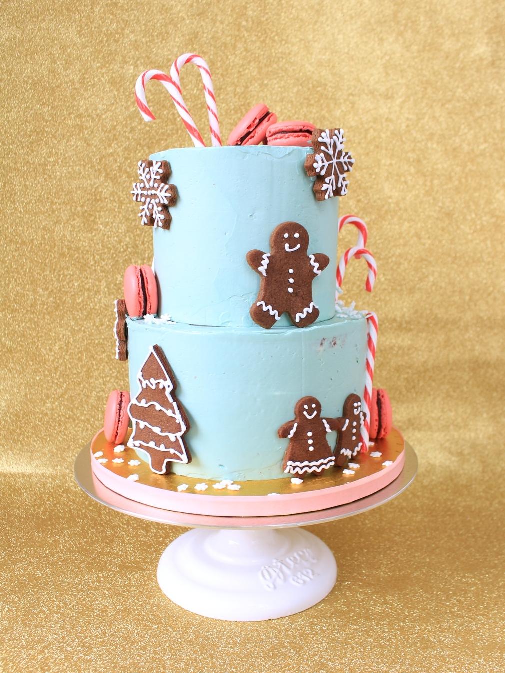 Modern Buttercream Christmas cake