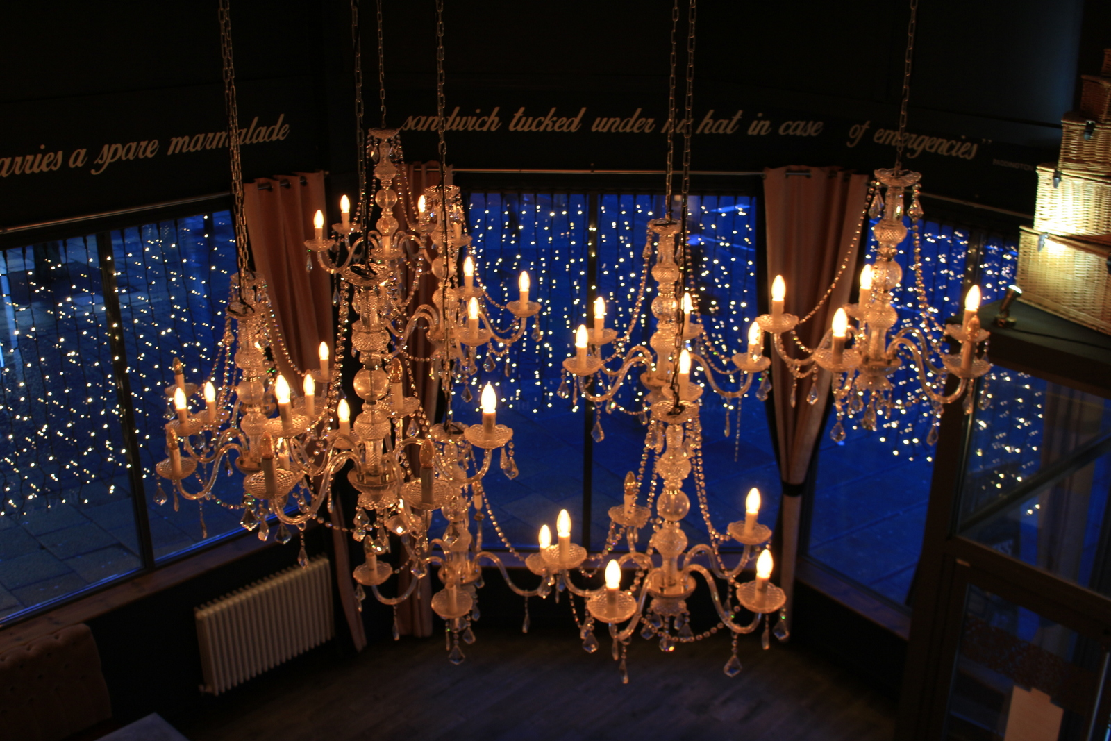 Chandeliers | The Bear and Lace