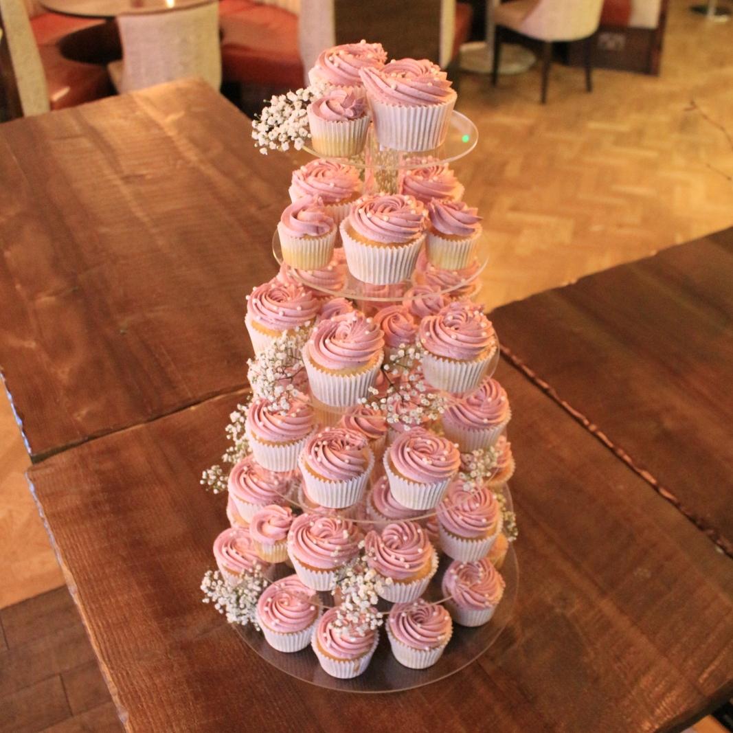 Buttercream cupcake tower