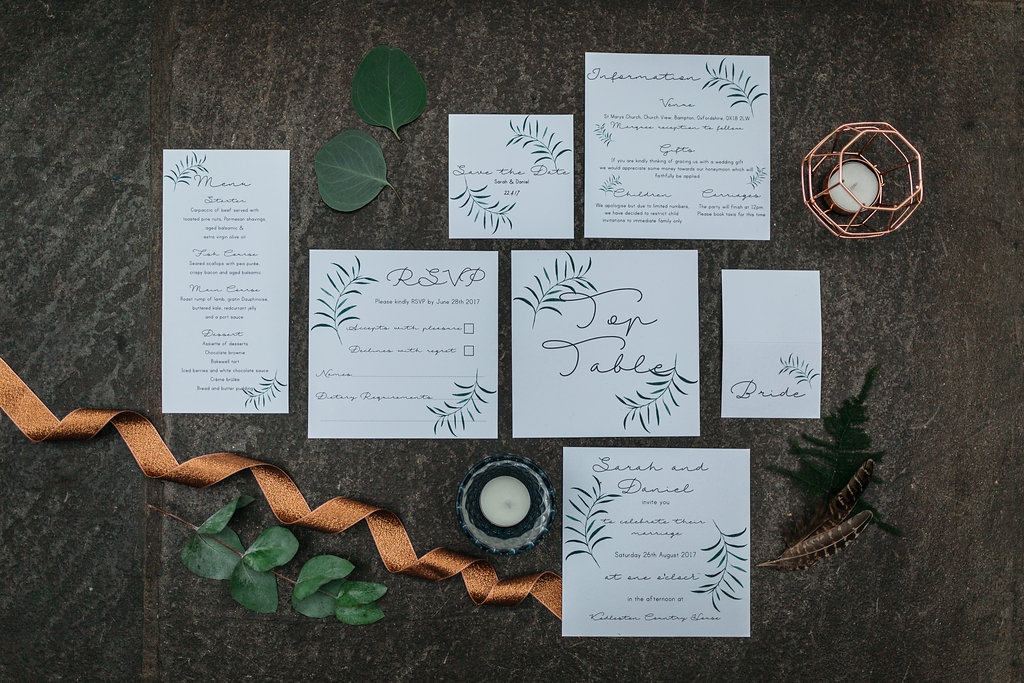 Boho Botanical wedding stationery | The Sweet Stuff