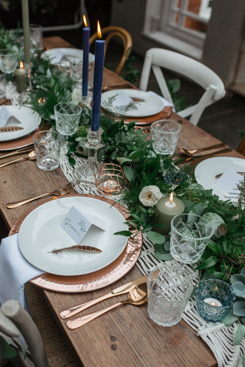 Boho Botanical wedding place settings 2 | The Sweet Stuff