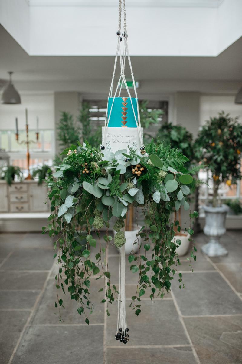 Boho Botanical Hanging Cake