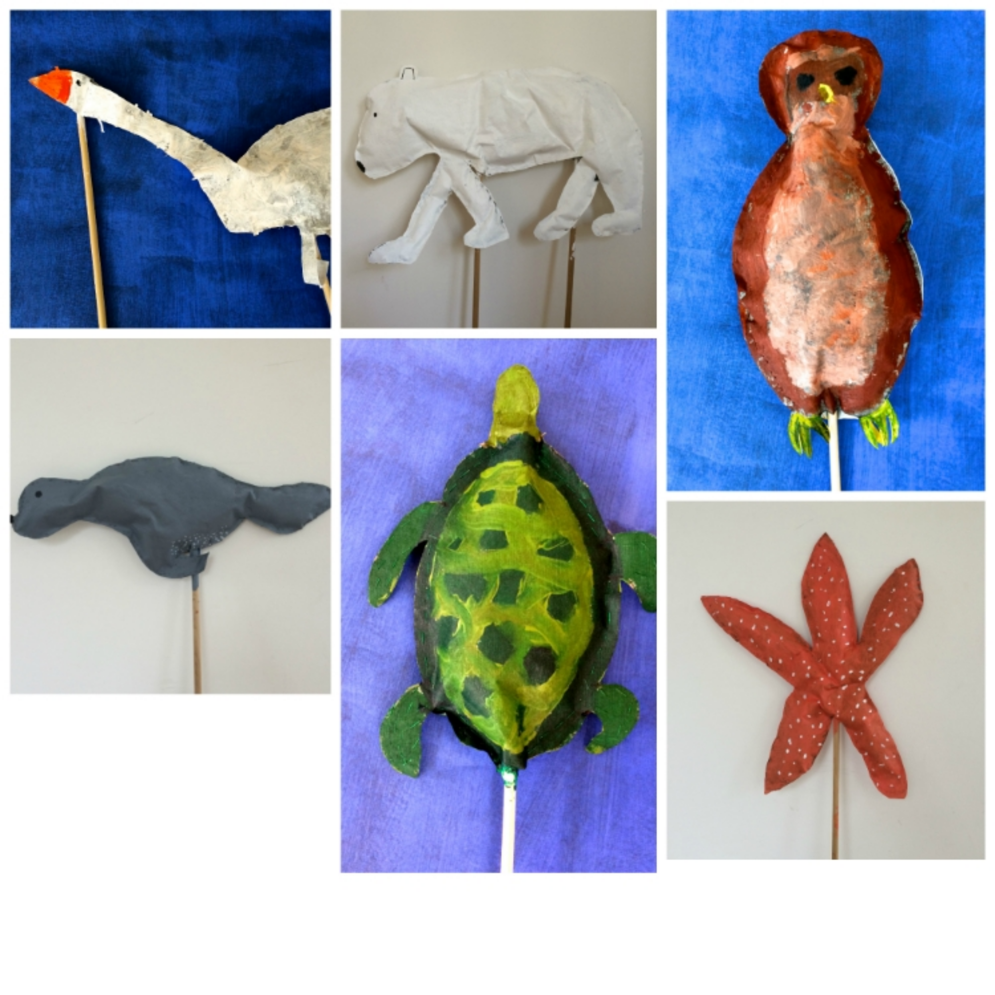A few of the Animal Parade Puppets made by the Green Monsters in 2015