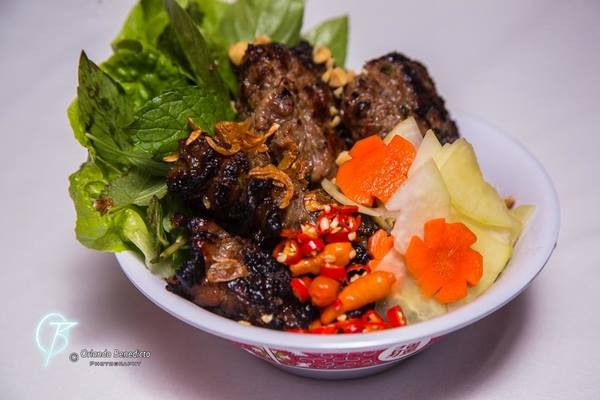Bun Cha Hanoi, the famous dish that comes from the Northern region of Vietnam. It was recently made famous when Preisdent Obama ate at a Bun cha restaurant with Anthony Bourdain during his visit to the country earlier this year.