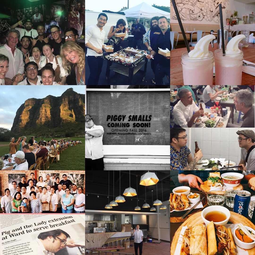 Here are some snapshots of the Pig and the Lady ohana during 2016. It was a blast and we couldn't have done it without our amazing diners and patrons. Mahalo!