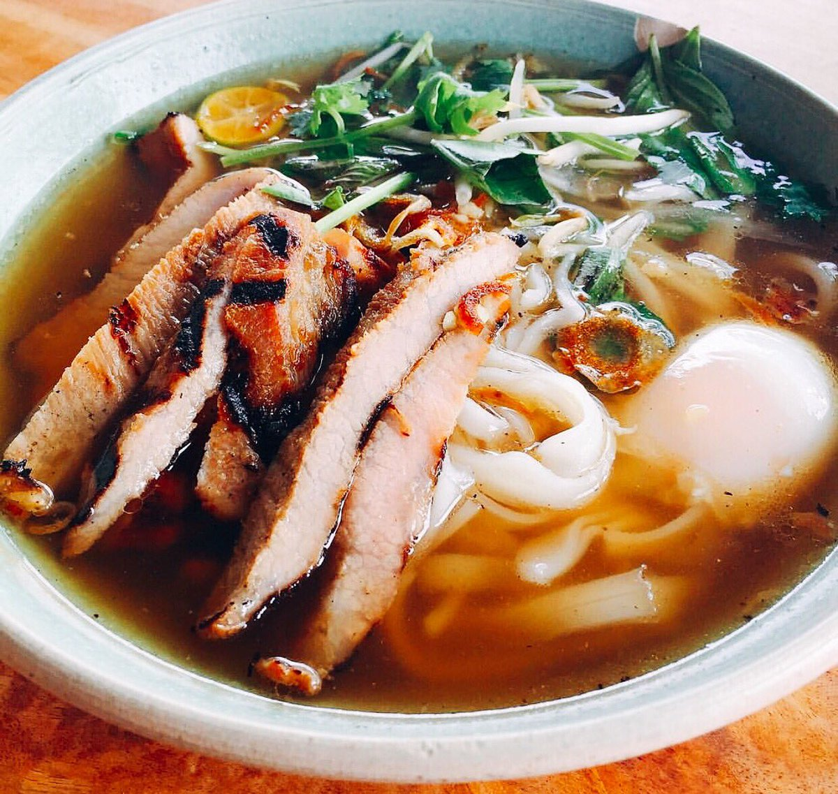 Pork Jowl Pho is one of our specials this week at The Pig & the Lady Farmers Market.