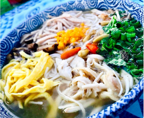 Mama Le's BUN THANG, a popular noodle soup usually eaten during Lunar New Year. It's this week's Farmers Market special.