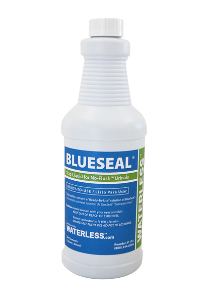 BlueSeal odor sealant for non water urinals