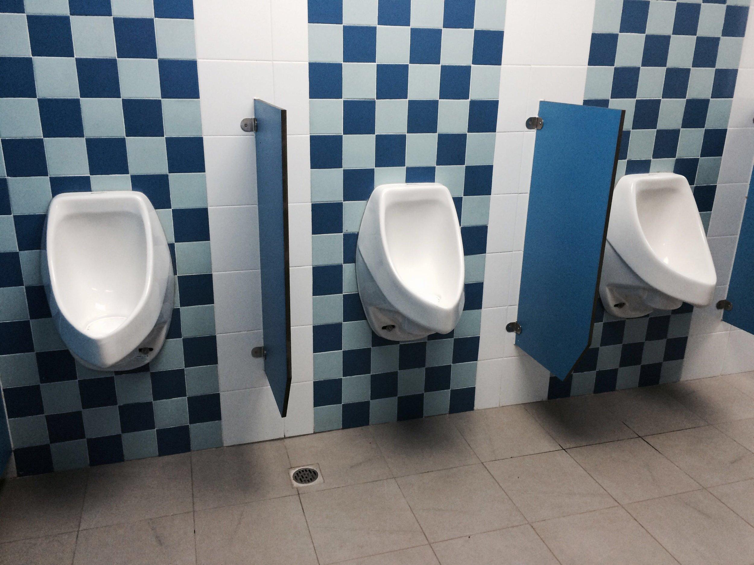 waterless urinals installed