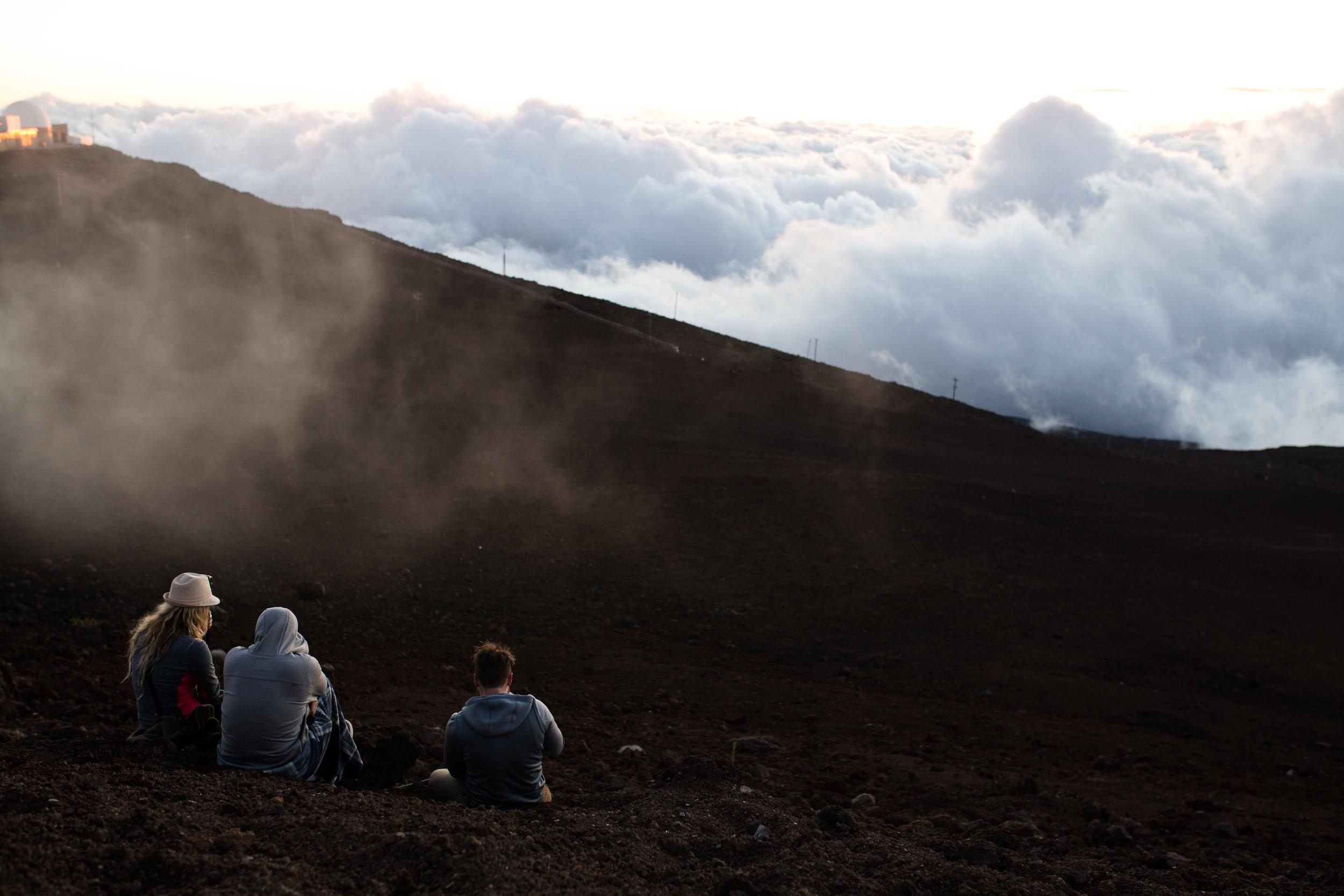 Watching the Sunset 10,000 ft above sea level at the peak of Haleakala