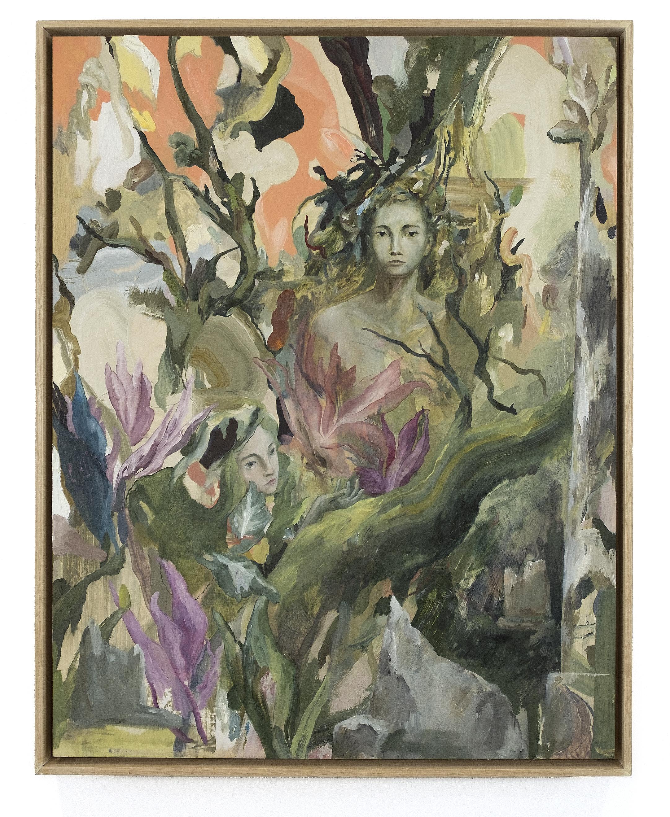 """An Earnest Reclamation of Wildness  24"""" x 18.75""""  oil on birch  framed in red oak  25"""" X 19.75""""  SOLD"""