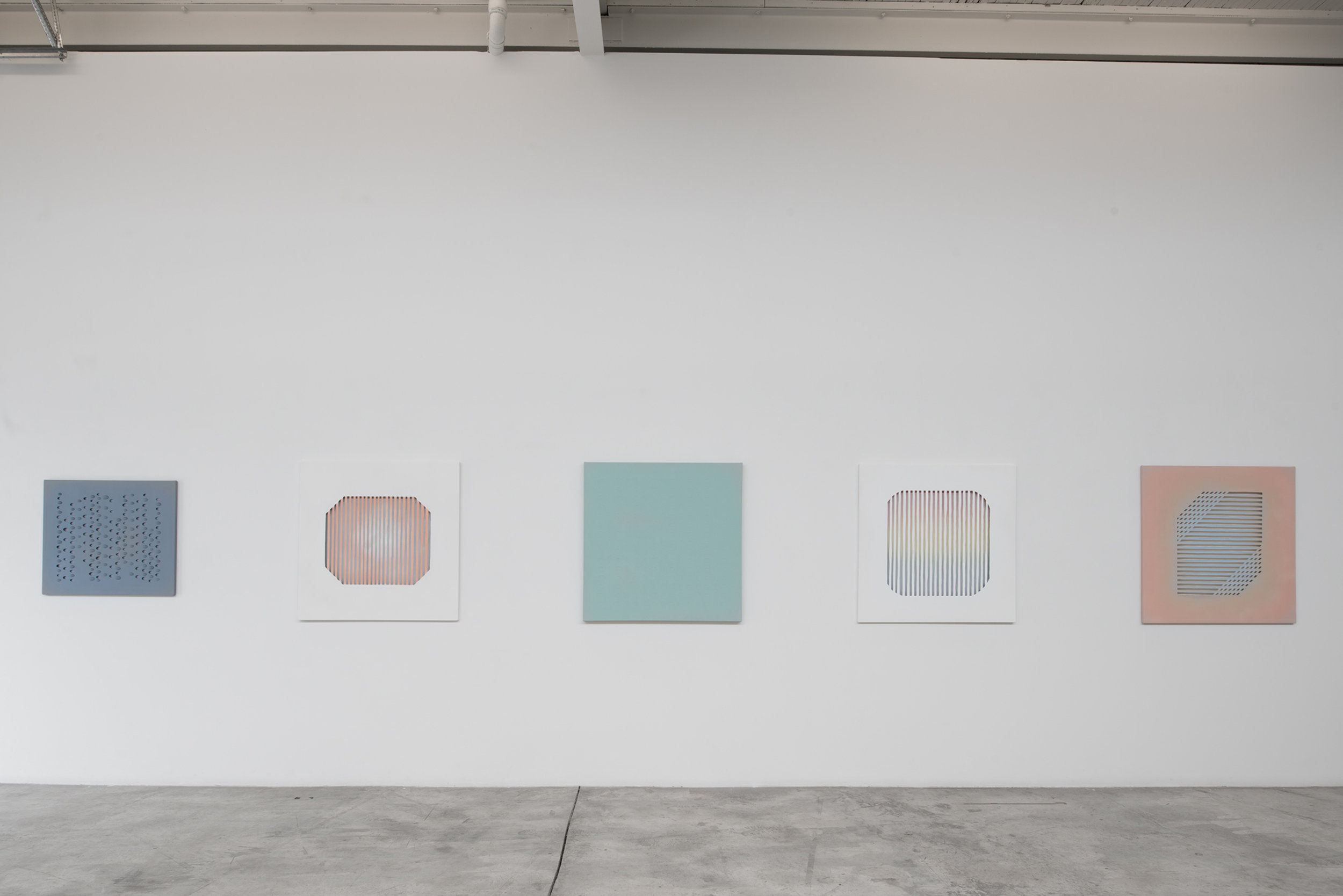 Derek Coulombe, Nestor Krüger, Kristie MacDonald, Janine Miedzik, Haley Uyeda    Installation view at Diaz Contemporary 2016