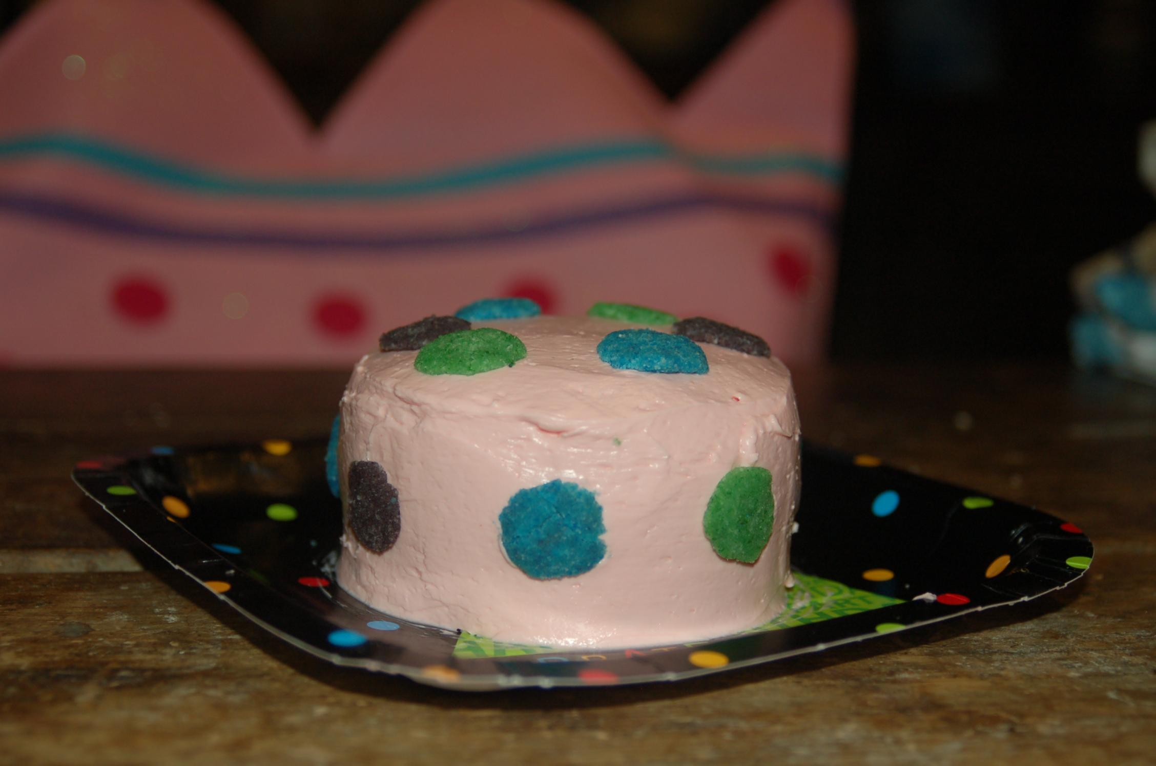 Polka Dotted Birthday Cake (7th Birthday)