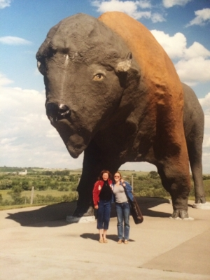 Worlds Largest Buffalo (and yes, that IS a violin on my back...)