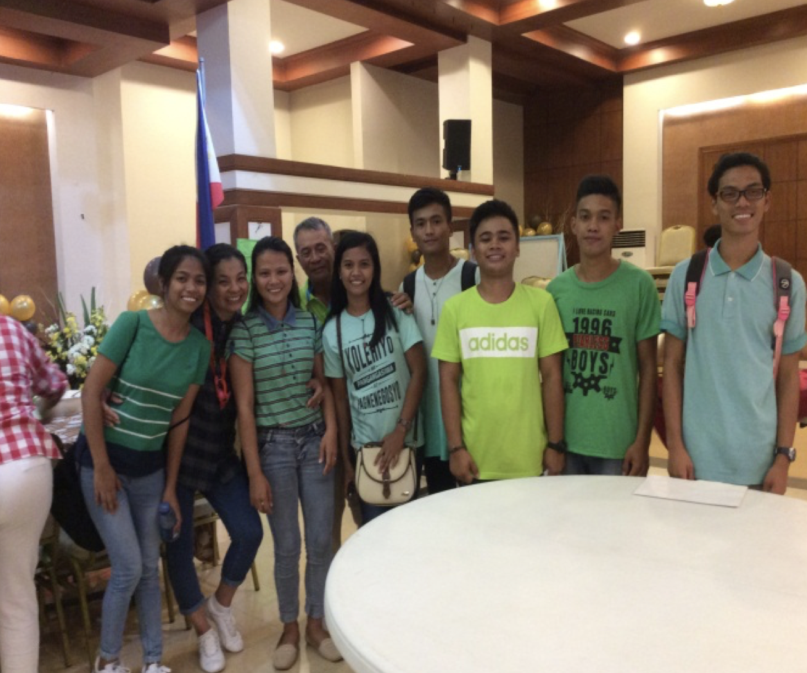 A picture with fellow Anawim sponsored child at the Basilica Hall after the big gathering, March 27, 2017 (far right)