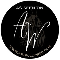 Artfully Wed Badge