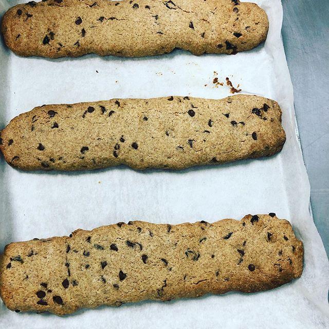 NEW! Chocolate chip craisin biscotti! Delicious & healthy! 😋