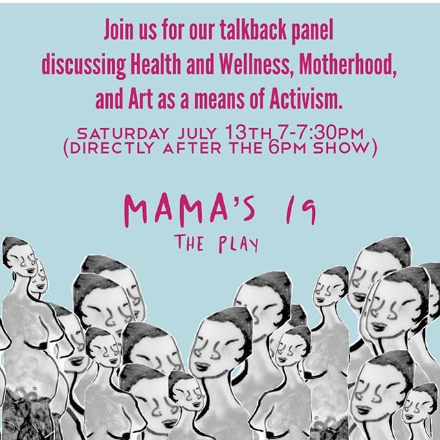 Tonight's audience gets a bonus!  Talkback with THE Javana Mundy, writer and star of #MAMAs19ThePlay #BlackOpulence