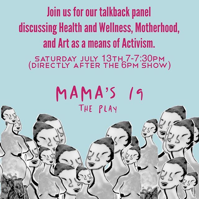 Those coming to the Sat July 13th 6p show get a special treat! Post show talkback panel with the writer! Ticket 🔗 in bio!  #MAMAs19ThePlay #BlackOpulence